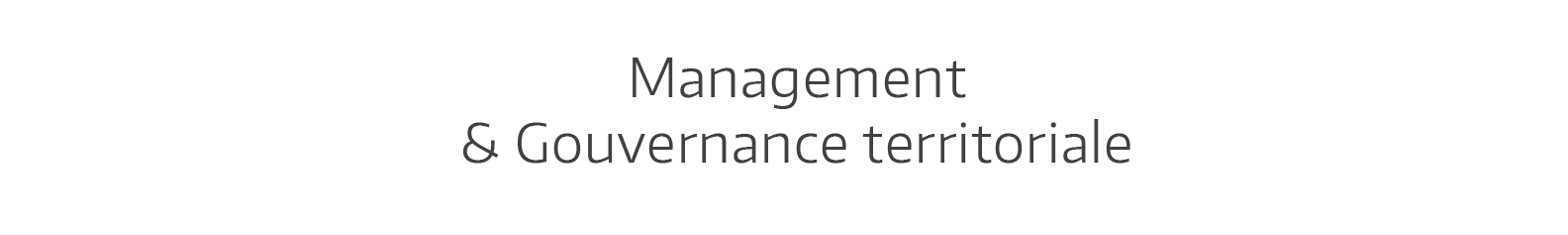Olivier Terrien Management et Gouvernance Territoriale